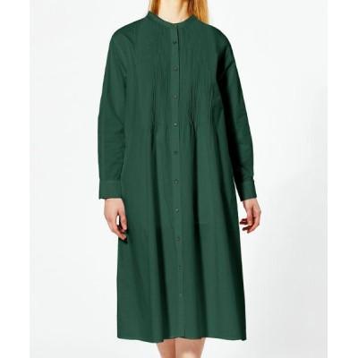 MARcourt/マーコート MIDIUMISOLID for Ladies ピンタックシャツワンピース green FREE