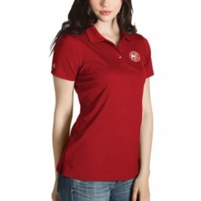 Antigua アンティグア スポーツ用品  Antigua Atlanta Hawks Womens Red Inspire Polo