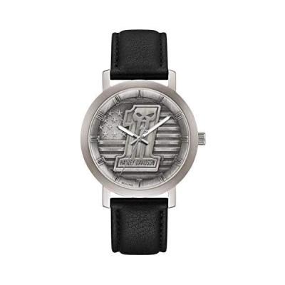 Harley-Davidson Men's #1 Skull Stars & Stripes Watch w/Leather Strap 76A163【並行輸入品】【自社買い付け品】