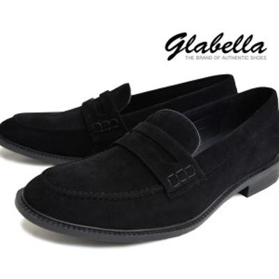 ローファー フェイクレザー Uチップ コインローファー デッキシューズ メンズ 靴 くつ(ブラック黒スエード) glbt076