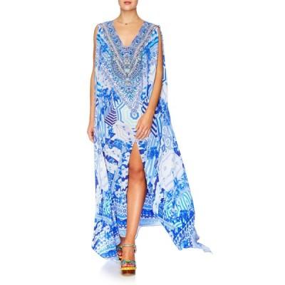 ワンピース カミーラ CAMILLA SWAROVSKI Embellished Silk THROWING SHADE V neck Caftan MAXI Dress