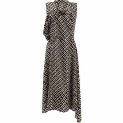 マリーン セル Marine Serre レディース ワンピース ラップドレス ワンピース・ドレス Moon Lozenge Wrap Dress Black