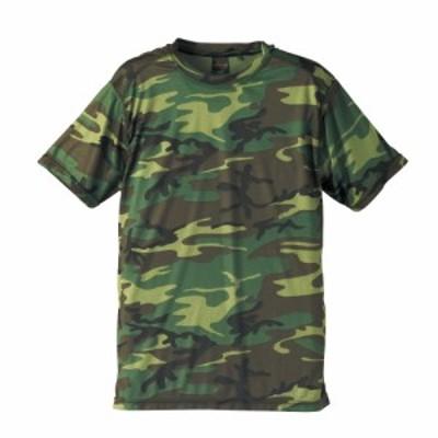 メンズ 半袖 Tシャツ 迷彩 ドライ 半袖Tシャツ 半袖T 丸首 クルーネック カモフラージュ カモフラ
