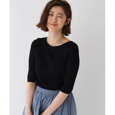 AG by aquagirl(エージー バイ アクアガール) 【美人百花5月号掲載】バックブイレースアップリブニット
