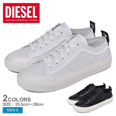 ディーゼル スニーカー メンズ S-アスティコ ロウレイス DIESEL Y01873-PR013 ホワイト 白 ブラック 黒 シューズ ローカット 靴 冬
