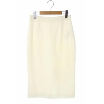 【中古】アレキサンダーマックイーン ALEXANDER MCQUEEN ロングタイトスカート 40 白 /KN ■OS レディース