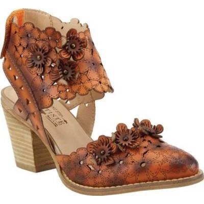 スプリングステップ L'Artiste by Spring Step レディース サンダル・ミュール シューズ・靴 Distinction Heeled Slingback Sandal Orange Leather