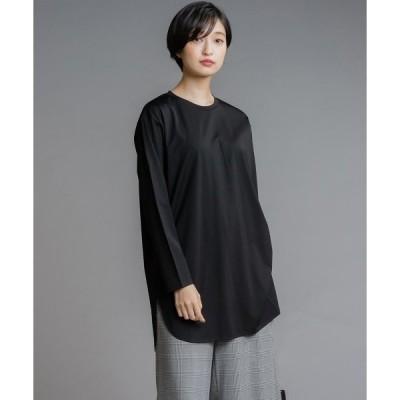 tシャツ Tシャツ シルキースムースチュニックTシャツ