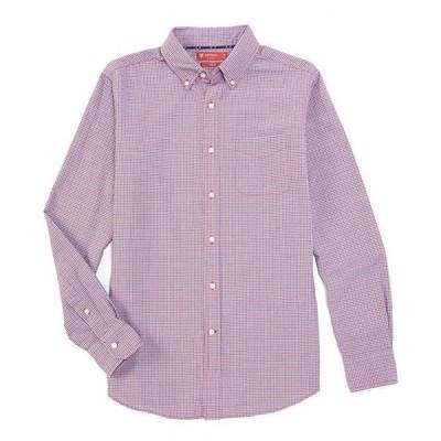 ダニエル クレミュ メンズ シャツ トップス Slim-Fit Plaid Oxford Red Long-Sleeve Woven Shirt