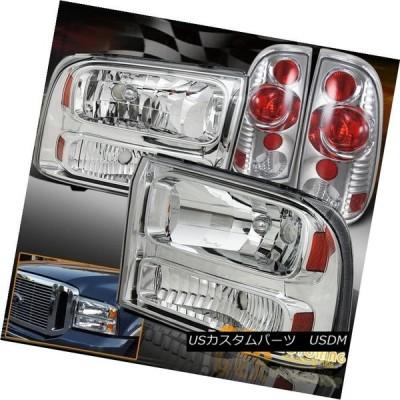 テールライト 1999-2004フォードF250 F350クロームヘッドライト2005年以降の見通し 1999-2004 Ford F250 F350
