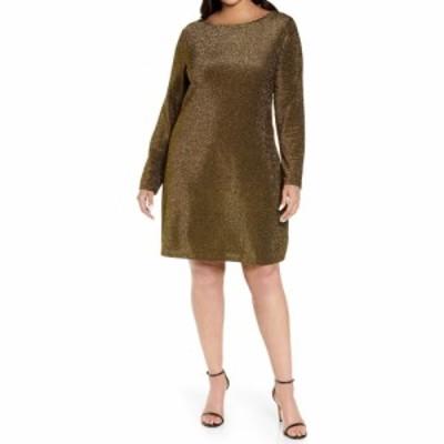 マイケル コース MICHAEL MICHAEL KORS レディース ワンピース ワンピース・ドレス Draped Back Long Sleeve Sparkle Dress Black/Gold