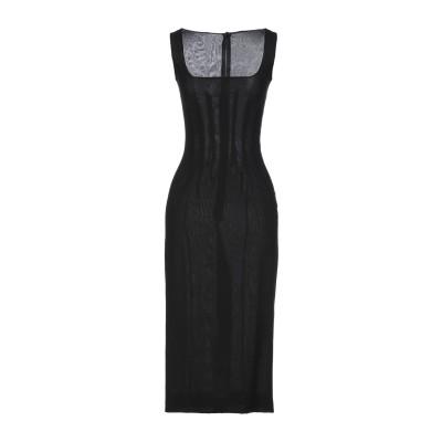 ドルチェ & ガッバーナ DOLCE & GABBANA 7分丈ワンピース・ドレス ブラック 40 シルク 100% 7分丈ワンピース・ドレス