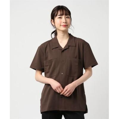 INNOCENT / 【Bl】梨地オープン半袖シャツ WOMEN トップス > シャツ/ブラウス