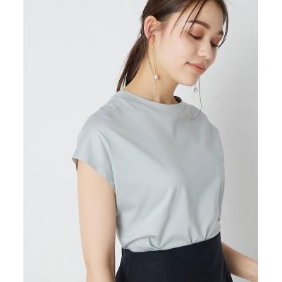 【手洗い可】リヨセル混フレンチTシャツ