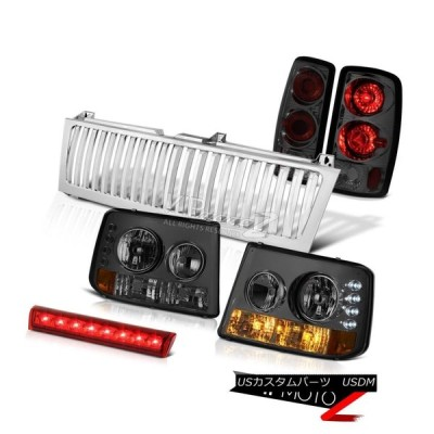 ヘッドライト 2000-2006シボレー郊外ヘッドライトテールライトレッドブレーキカーゴLEDクロームグリル 2000-2006 Chevy Subu