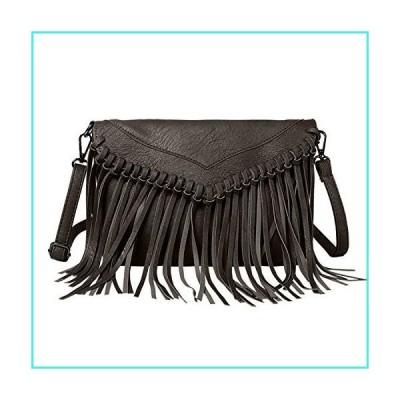 【新品】LUI SUI Women PU Leather Hobo Fringe Crossbody Bags Tassel Purse Phone Wallet Shoulder Bags Handbag Clutch Purse(並行輸入品)