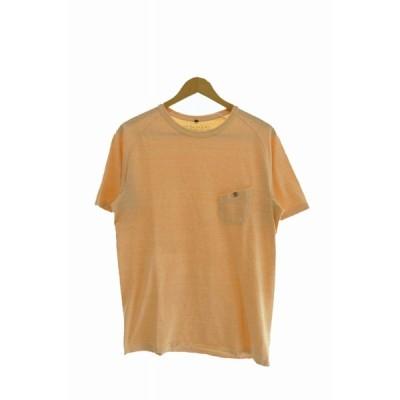 【中古】ナイジェルカーティス Nigel Curtiss GRANDRELLE BASIC T-SHIRT  グランデレル ベーシック ポケット 半袖 Tシャツ 8070021202 50 オレンジ 200715 0005