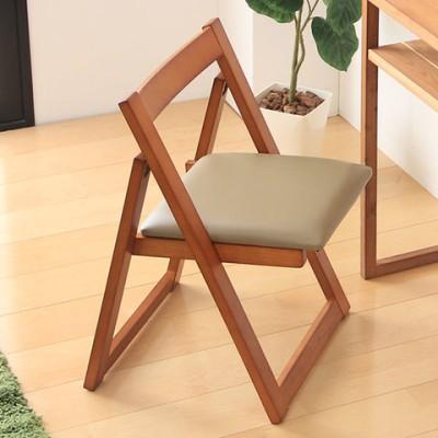 完成品 天然木 コンパクト チェア 《ブラウン》 GF-0843C 折りたたみ 椅子 いす イス チェアー 折り畳み 木 木製 シンプル ナチュラル 北欧 省スペース 折りたたみチェア 折畳み 18210002