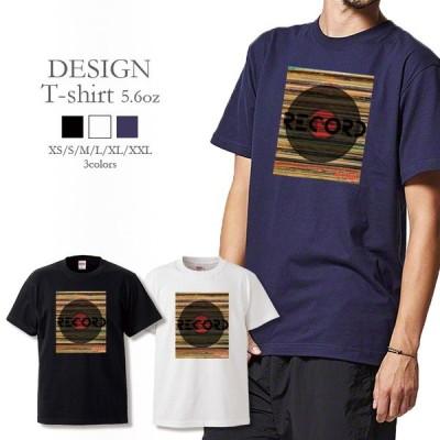 Tシャツ メンズ レディース 半袖 高品質 RECORD JUNKIES レコードジャンキー アナログレコード ヴィンテージ かっこいい クルーネック プリントTシャツ