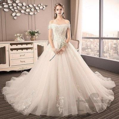 ウェディングドレス ウェディングドレス白 パーティードレス 刺繍レース 花嫁ロングドレス 結婚式 ウェディングドレス ビスチェタイプ 二次会 お呼ばれ