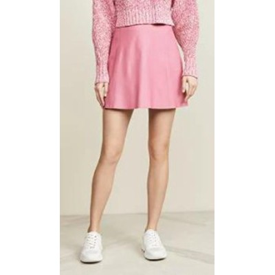 VEDA レディーススカート VEDA Smooth Leather Circle Skirt Rosa