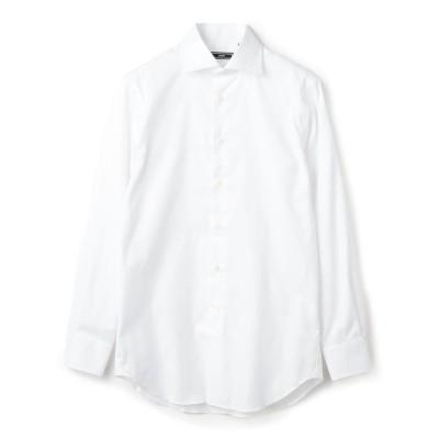 【シップス】 SD: イージーアイロン オックスフォード ソリッド ワイドカラー シャツ メンズ ホワイト 37 SHIPS