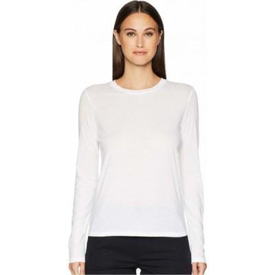 ヴィンス Vince レディース 長袖Tシャツ トップス Essential Long Sleeve Jersey Crew Optic White