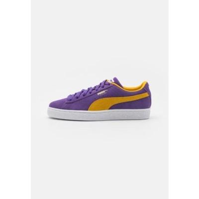 プーマ メンズ 靴 シューズ SUEDE TEAMS - Trainers - prism violet/spectra yellow