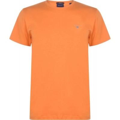 ガント Gant メンズ Tシャツ ロゴTシャツ トップス Crew Logo T Shirt Orange