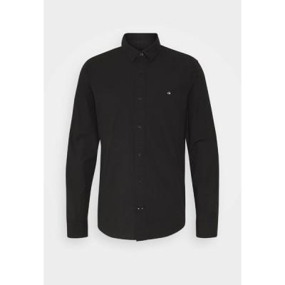 カルバンクライン シャツ メンズ トップス SLIM FIT - Formal shirt - black