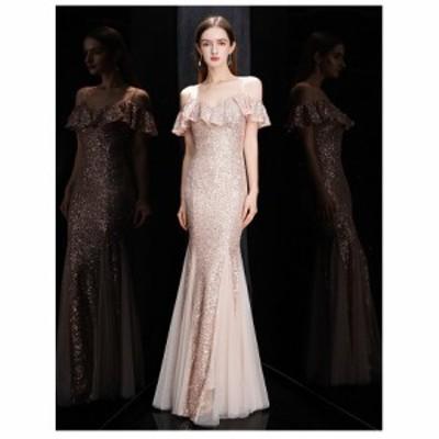 ロングドレス ウェディングドレス イブニングドレス 演奏会 大きいサイズ ドレス ロング 結婚式 お呼ばれ 大きい ピアノ ステージドレス