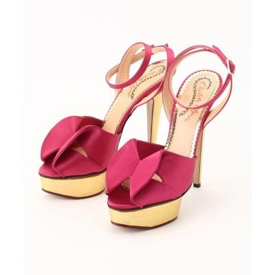 OFF PRICE STORE(Fashion Goods)(オフプライスストア(ファッショングッズ)) Charlotte Olympia サテンメタリックヒールサンダル