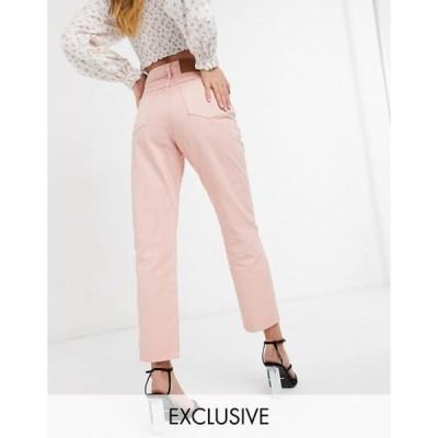 リクレイム ヴィンテージ レディース デニムパンツ ボトムス Reclaimed Vintage Inspired the 91' mom jean in rose pink wash