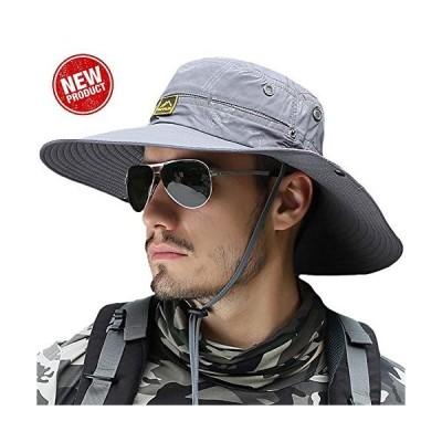 サファリハット メンズ 【UPF50 通気性抜群 つば広】大きいサイズ プレゼント UVカット 帽子 折り畳み サイズ調