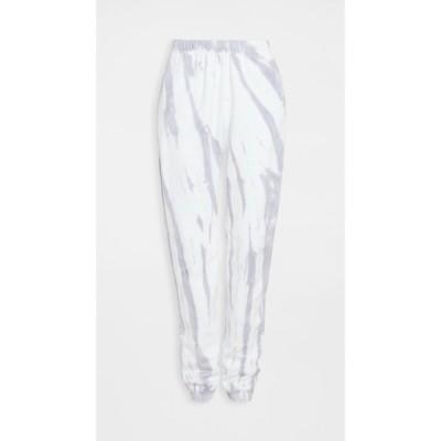 グッド アメリカン アクティブ Good American Active レディース スウェット・ジャージ ボトムス・パンツ Boyfriend Sweatpants Lilac Tie Dye