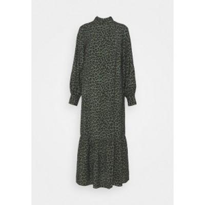 エディテッド レディース ワンピース トップス TRISH DRESS - Maxi dress - black/green black/green