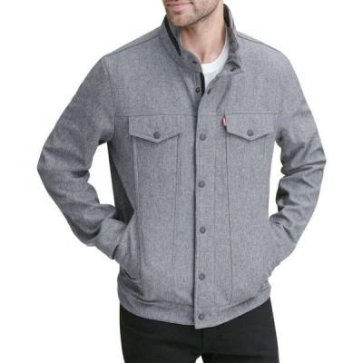 リーバイス LEVI'S メンズ ジャケット ソフトシェルジャケット アウター Levi's Softshell Commuter Jacket Heather Grey