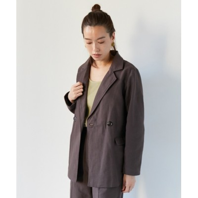 AZUL ENCANTO / リネンライクテーラードジャケット WOMEN ジャケット/アウター > テーラードジャケット