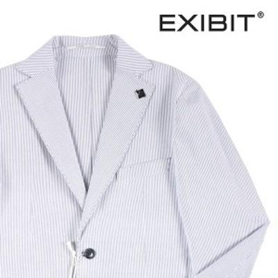 【44】 EXIBIT エグジビット ジャケット メンズ 春夏 ストライプ ホワイト 白 並行輸入品 アウター トップス