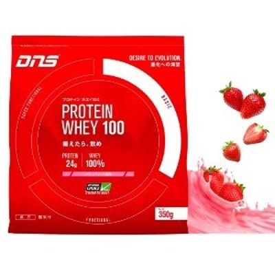 DNS プロテインホエイ100 いちごミルク風味 350g 乳清 動物性たんぱく質 筋トレ ウエイトトレーニング 筋肉 体づくり ホエイプロテイン