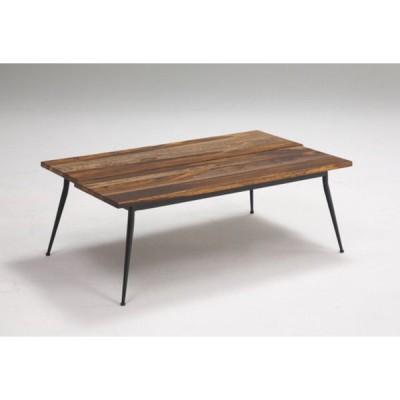 送料無料  センターテーブル タガヤサン 長方形 無垢材 アイアン脚 オイル仕上げ 幅100