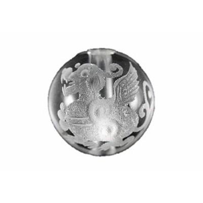 貔貅(ヒキュウ) 水晶 素彫り 10mm玉 一粒売り 天然石 パワーストーン