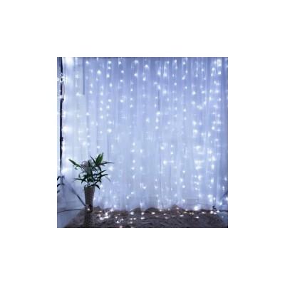 [USプラグ,White]9.8x9.8FT 300LEDsカーテンフェアリーストリップウェディングパーティー家の装飾暖かい/白色光