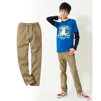 ストレッチツイルストレートパンツ(男の子・女の子 子供服・ジュニア服) パンツ, Kids' Pants