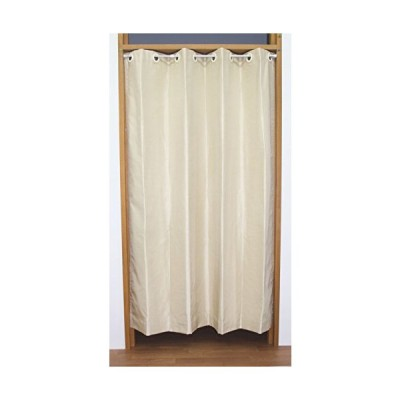 節電・省エネ日本縫製 断熱 防音 遮光 シールド仕切りカーテン リベルテ アイボリー 幅140cm×丈175cm 1枚入 日本製