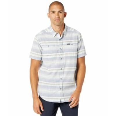 コロンビア メンズ シャツ トップス Leadville Ridge¢ Short Sleeve Shirt II Bluestone Strip