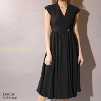 【送料無料】 キャバ ドレス カシュクール バック カット フレア 膝丈 ドレス | ドレス キャバ キャバドレス 大きいサイズ ドレス ワンピ