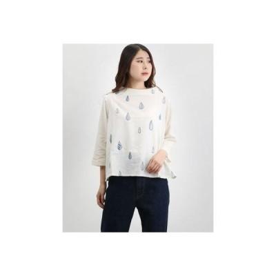 カンカン KANKAN しずく刺繍プルオーバー (ホワイト)
