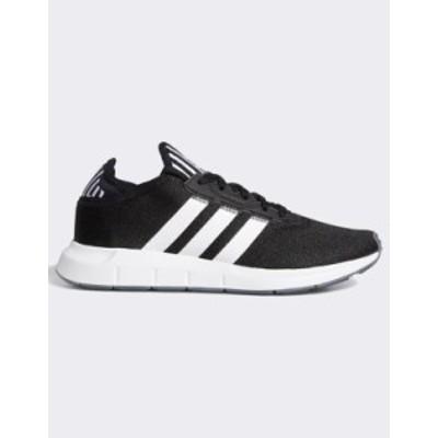 アディダス レディース スニーカー シューズ adidas Originals Swift Run Sneakers In Black Black