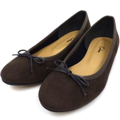 calme 18AW Ballet Shoesバレエシューズスリッポン ブラウン(チャコールグレー) サイズ:M(23.5cm) (下北沢店) 200